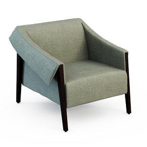 armchair ara porada 3d model