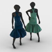 evening dress 3d model