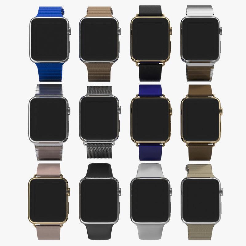 apple watch modeled 3d model