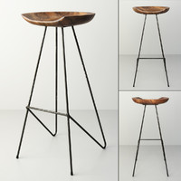 3d model perch barstool