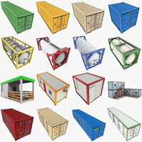 great mega containers 3d model