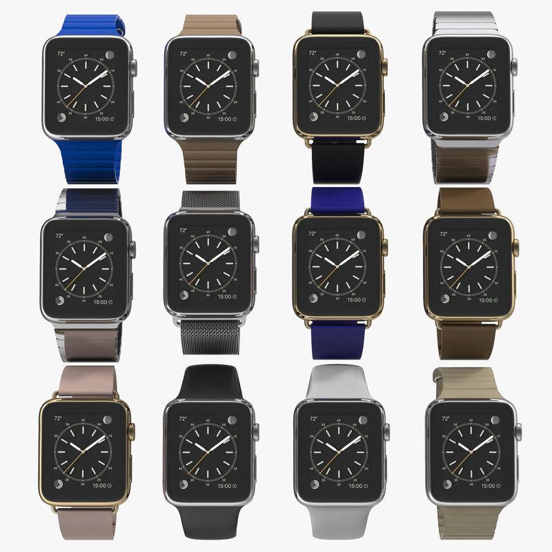3d model apple watch 3 modeled