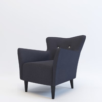 armchair gramercy home 3d max