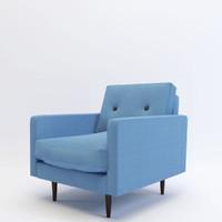 3d armchair gramercy home