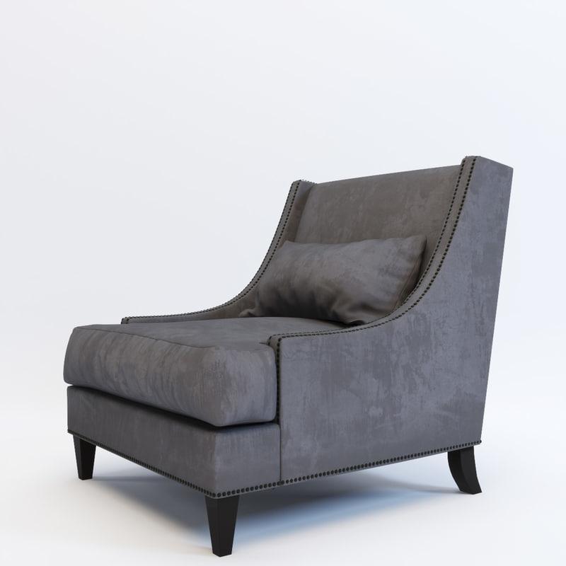 3ds max armchair delfi gramercy