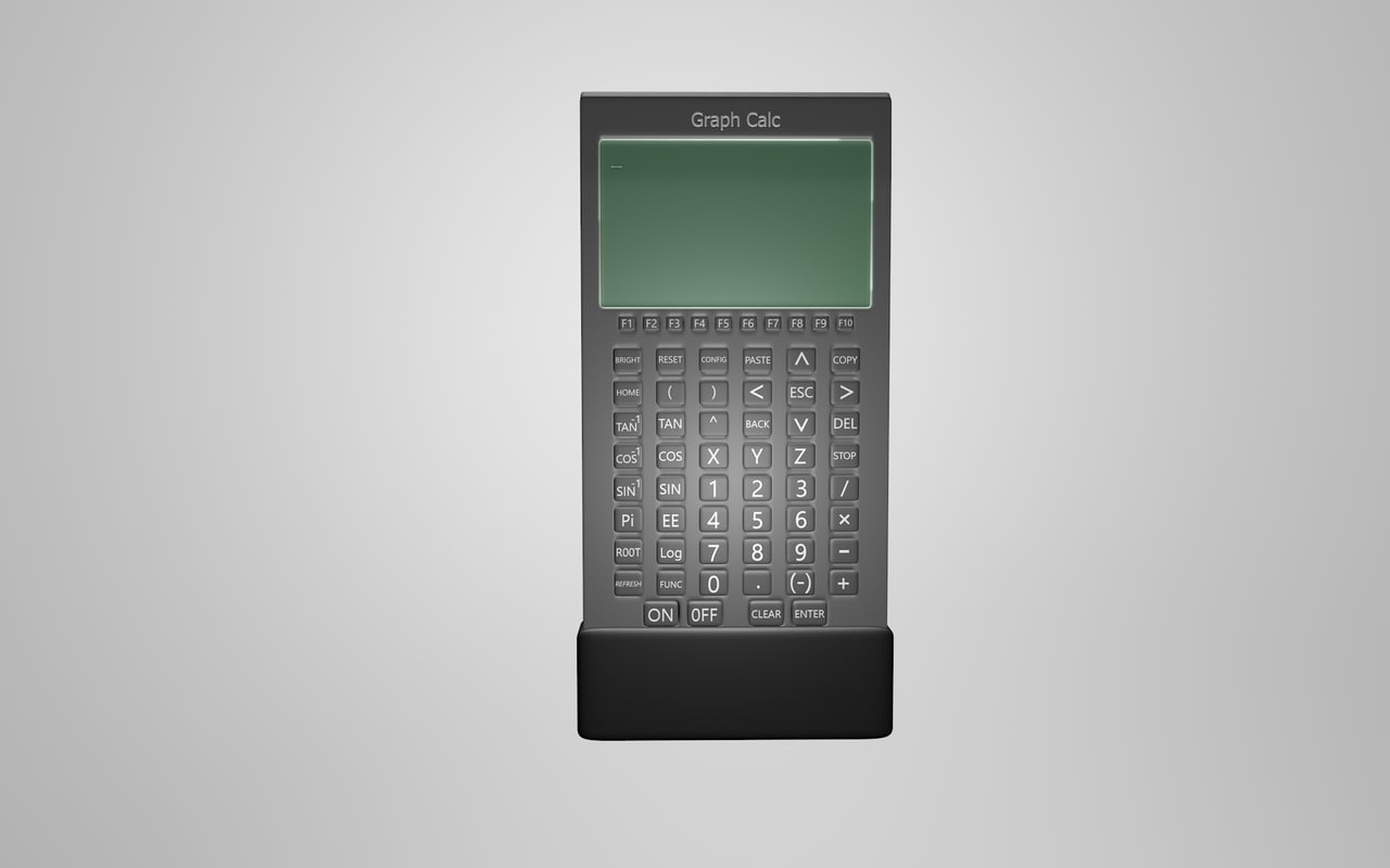 c4d branded graphic calculator