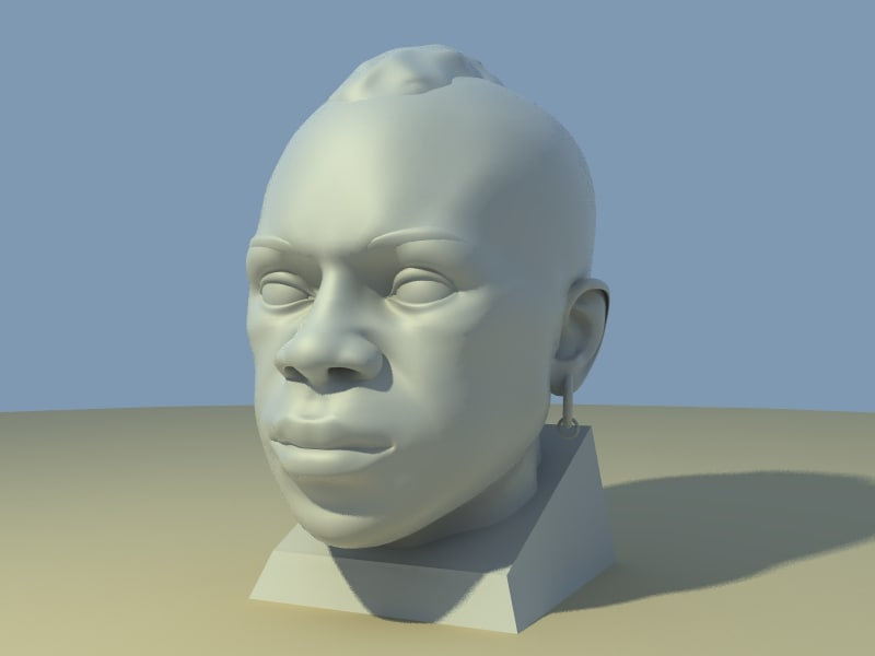 3d character face model