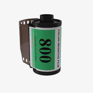 c4d 35mm film roll green