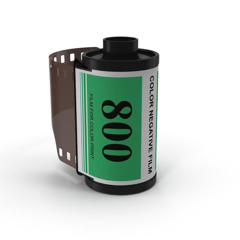 c4d 35mm film roll green
