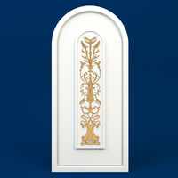 Classic decorative ornament Arabesque [ plant bas-relief ] on a false window