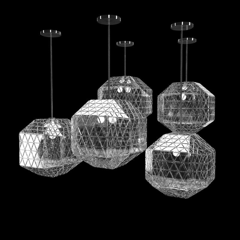 glass pendant lamp 3d model