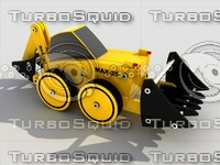 toy tractor module kit 3d model