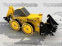 toy tractor module kit 3d model