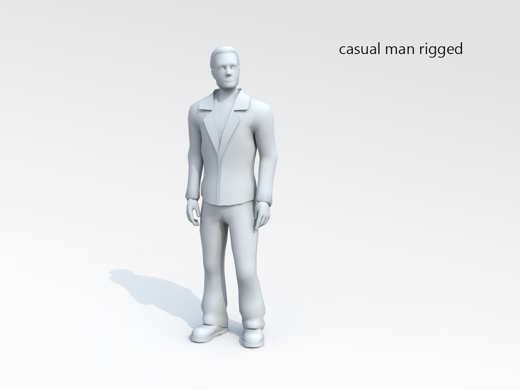 unwrapped rigged biped 3d model