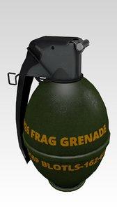 3d model grenade