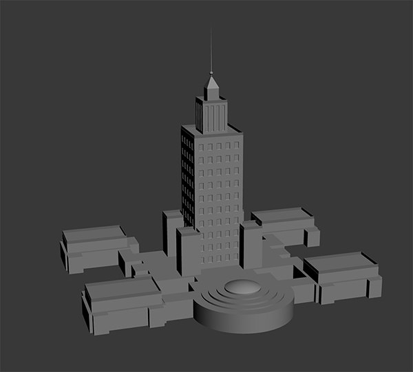 3d model palace culture science