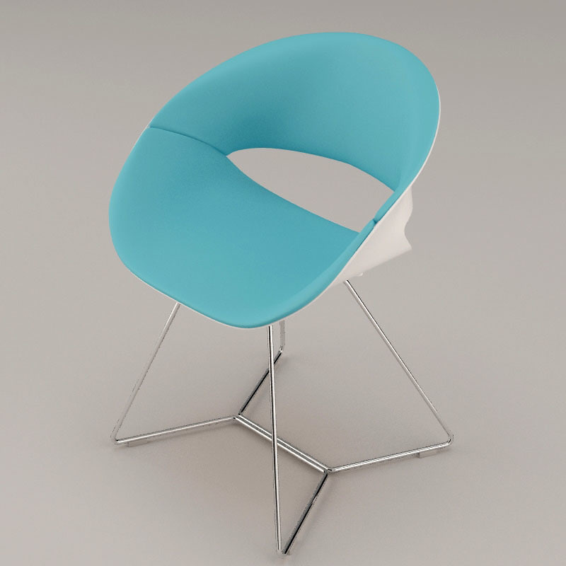 kusch 8250 volpino chair 3d model
