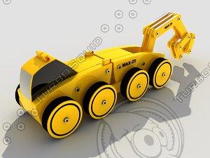 3d model toy skidder module kit