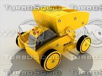 3d model toy truck module kit
