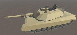 3ds max m1 abrams battle tank