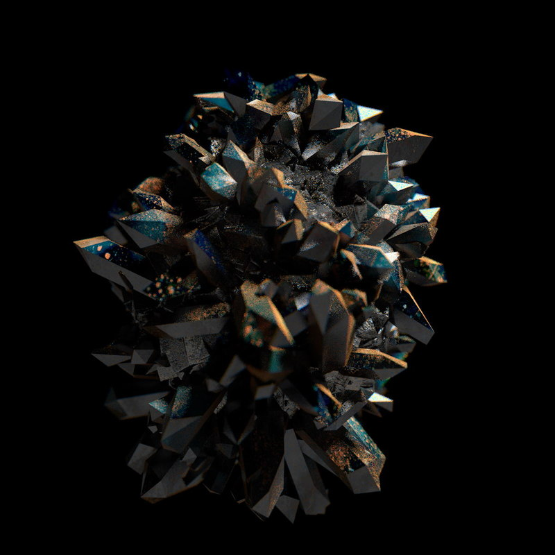 minerally stone crystals 3d c4d