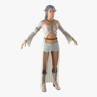 female elf 2 3d model