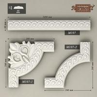 molding corner elements harmony 3d model