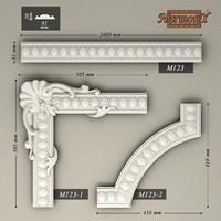 3d model molding corner elements harmony