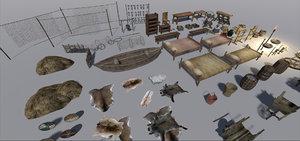 3dsmax medieval furniture
