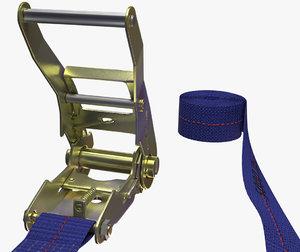 3d ratchet strap model