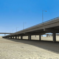 3d highway construction desert model