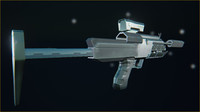 obj futuristic military 45 submachinegun