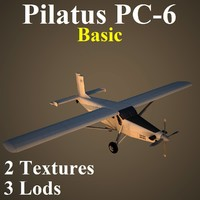 3d model pilatus porter basic