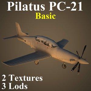 pilatus basic 3d model