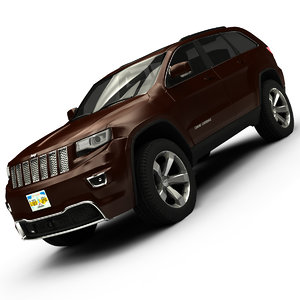 2014 jeep grand cherokee 3d model