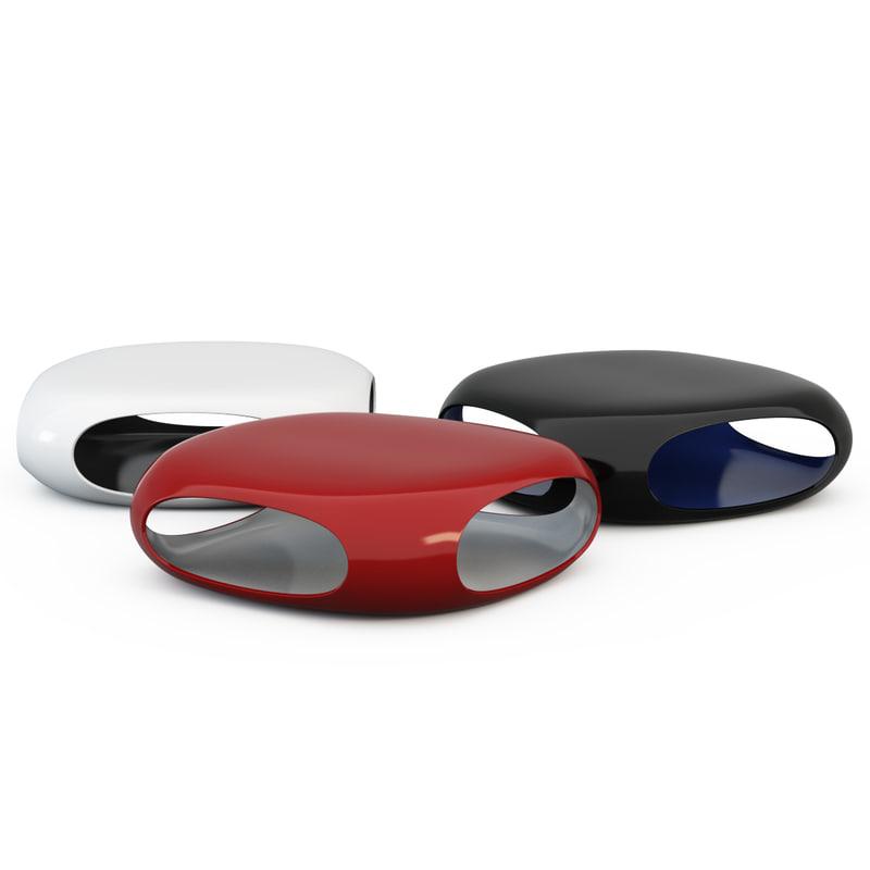coffee table pebble 3d model