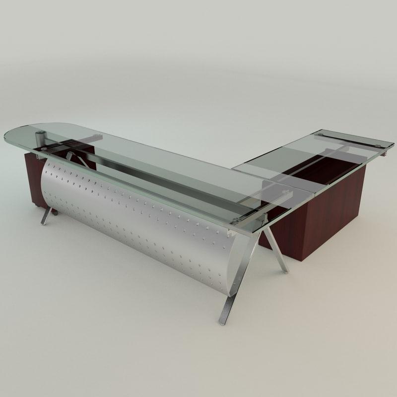 3dsmax modern glass desk