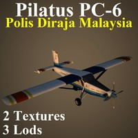 pilatus porter uup 3d model