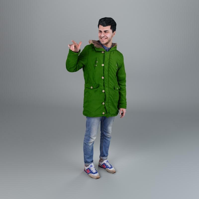 3d model man winter casual