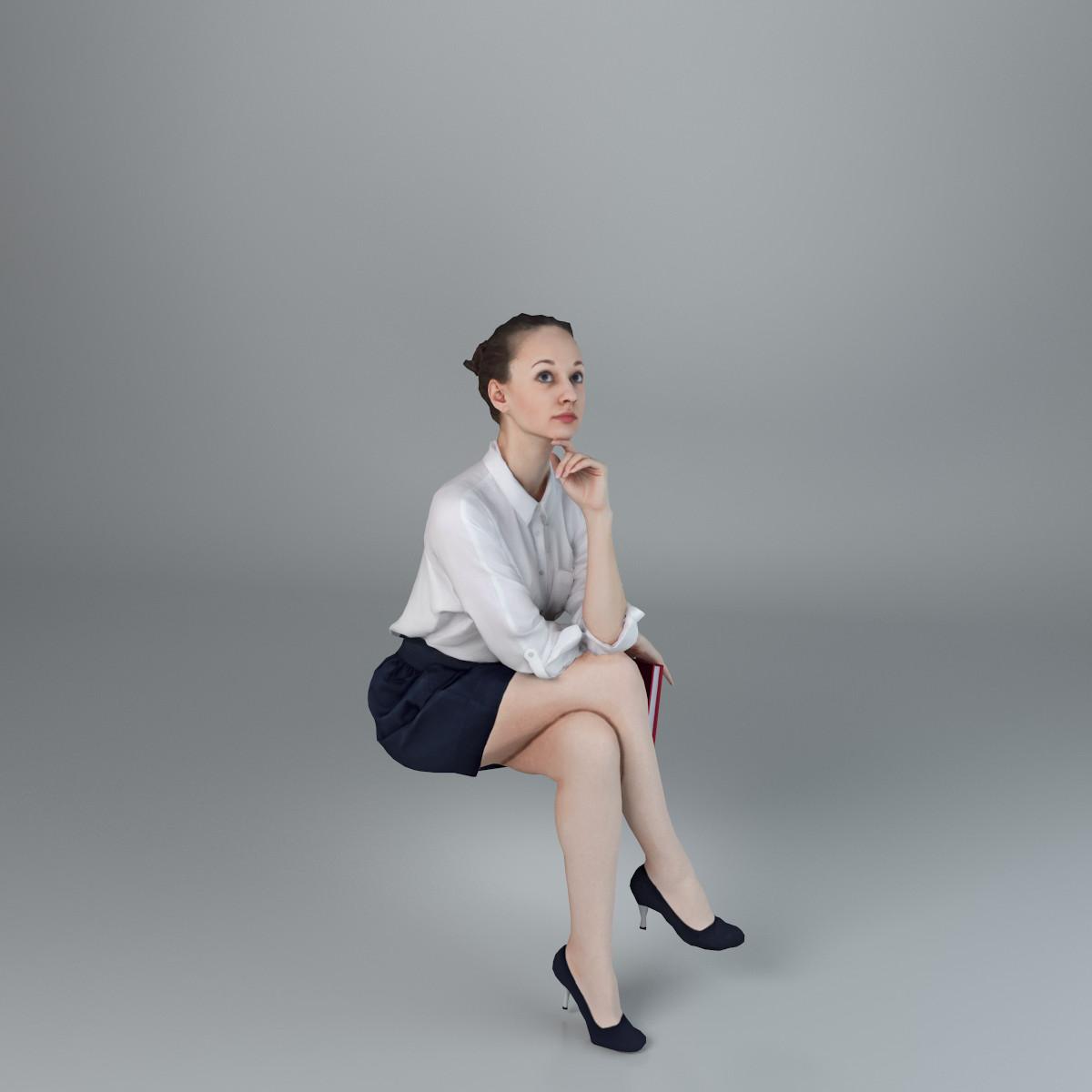 woman casual 3d model