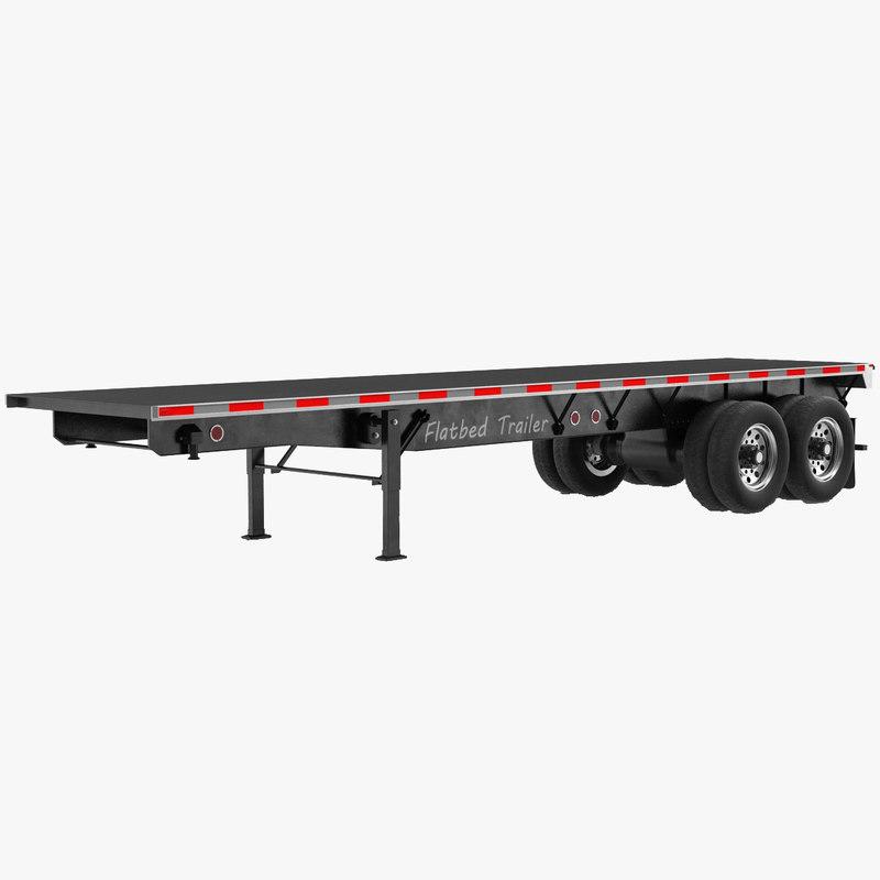 3d flatbed trailer