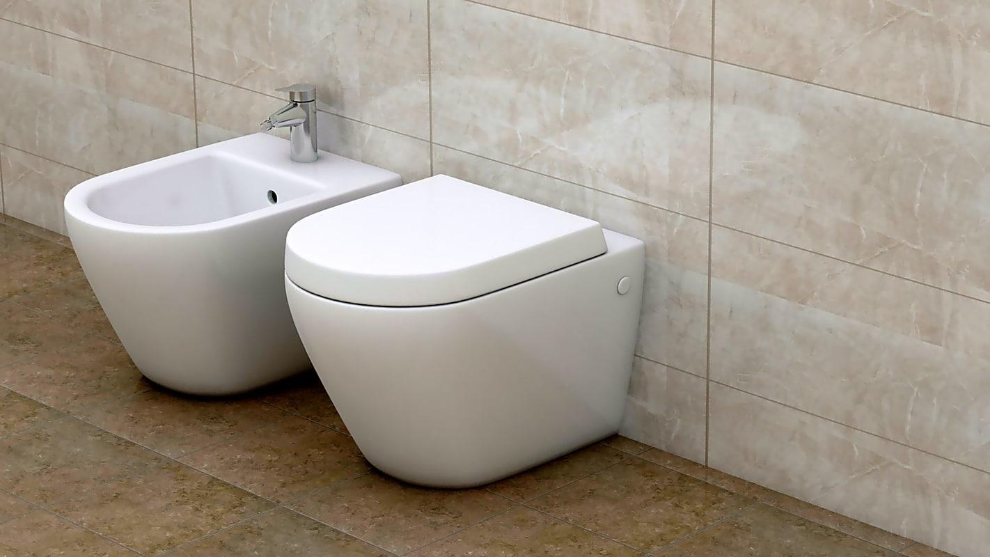 bidet toilet 3d dxf
