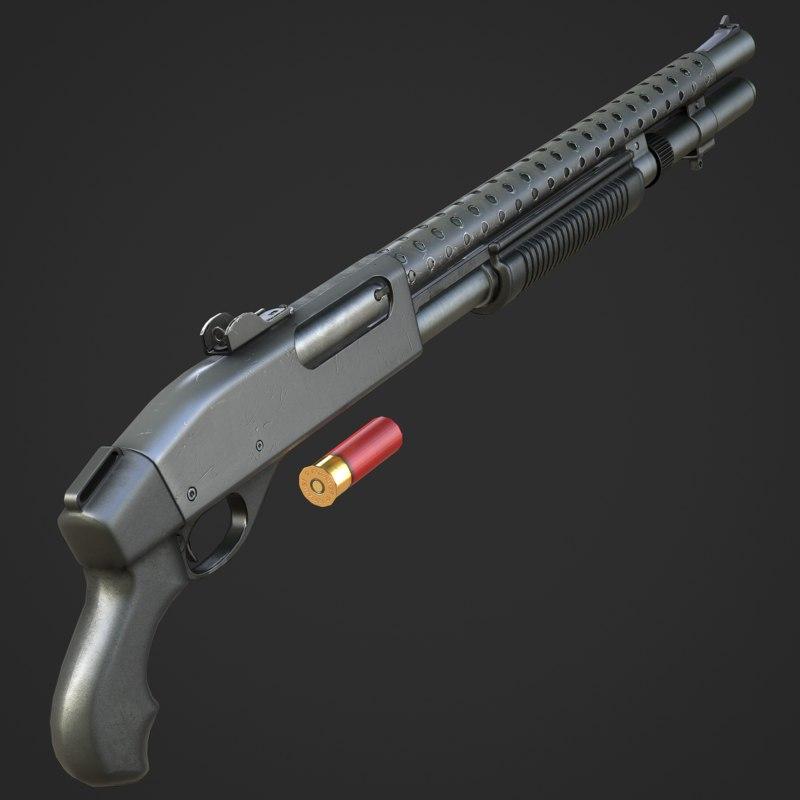 3ds max remington 870 shotgun