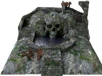 3dsmax scene skull