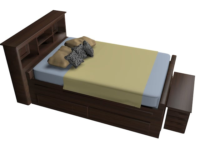 3d designed bedroom set model