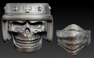 3dsmax skull ring print