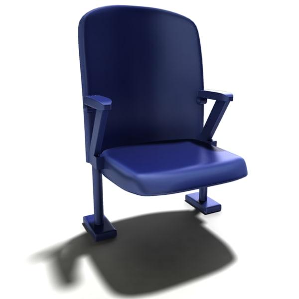 bleacher chair 3d x