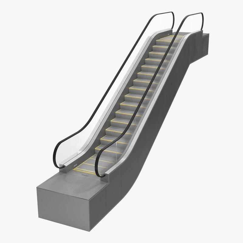 escalator build 3d model