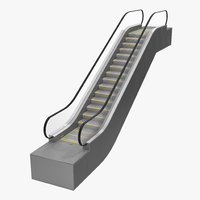 escalator build 3d model