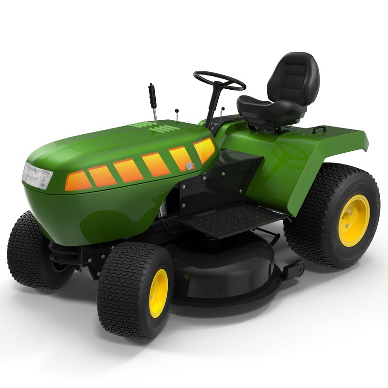3d model lawn tractor